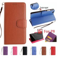 New PU Leather Lather Flip Clamshell Wallet Wallt Walet Phone Mobile Case Cover For Huawei Huawai Hauwei P8 P 8 Red Black Brown