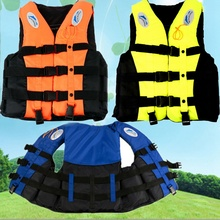 Professional Swimwear Polyester Oxford Cloth Adult Life Jacket Universal Swimming Aid Sailing Watersports with Whistle S-XXXL