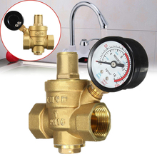 "Mayitr Durable DN20 3/4"" Adjustable Brass Tap Water Pressure Reducing Valve Pressure Maintaining Regulator Valves With Gauge(China)"