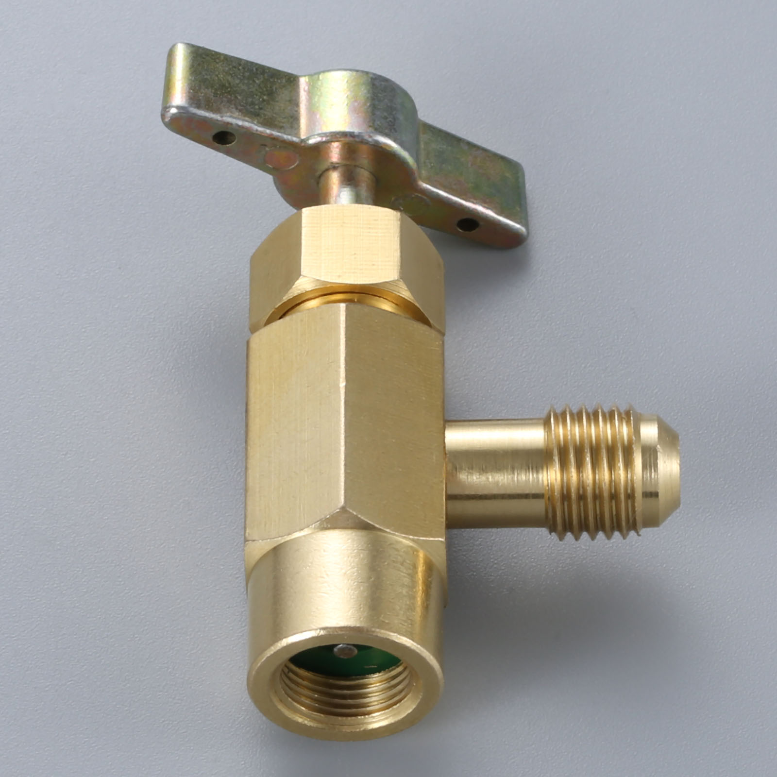 1Pc Brass Self-Sealing Refrigerant Bottle Opener R134a Can Tap Dispenser