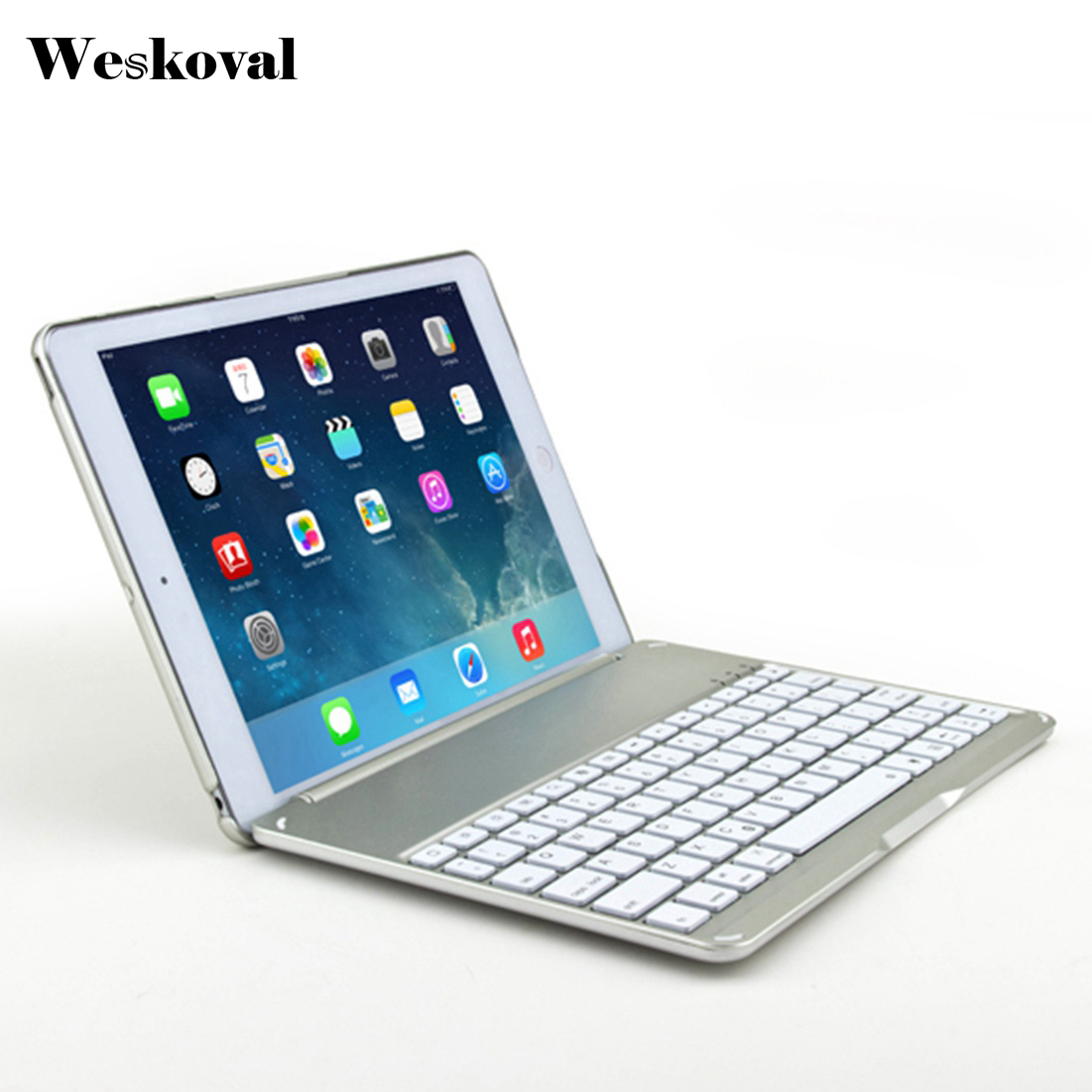 For iPad 9.7 inch 2017 Wireless Bluetooth Keyboard Case For iPad 9.7 2017 Tablet Flip Stand Cover Capa Fundas+Stylus<br>