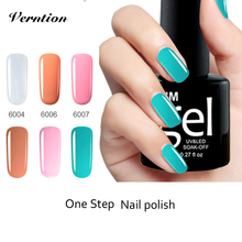 Verntion 3in1 Crystal Nails UV Gel Polish Soak Off Shiny lucky colors No Primer UV LED One Step cheap Gel Varnish