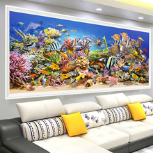Buy AZQSD Diamond Painting Landscape Needlework Mosaic Full Square Ocean World DIY Diamond Embroidery Home Decor Big Size BB10559 for $4.43 in AliExpress store