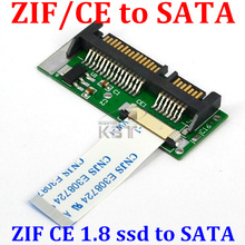 "T 1set Replaces SATA 15+7pin Hard Disk Drive CE to SATA 1.8 inch SSD to SATA ATA HDD Adapter Converter 1.8"" 24pin ZIF Adaptor"