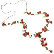 2017 New Fashion Women Choker Necklace - Beautiful Red Cherries Necklace Pendant Jewelry Necklace Accesories For Women Gift