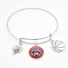 2017 New Basketball Charm Toronto Raptors Bracelets&Bangle for Women Super Bowl Fans Jewelry(China)