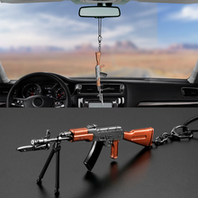 Metal ak-47 Toy Weapon Gun Model Car Decoration Hanging Pendant Charm Automobile Rearview Mirror Decor Ornament Accessories Gift(China)