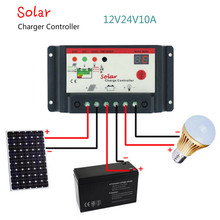 Aoshike Solar Charge Controller 12V 24V 10A Solar Panel Charge Regulator Switching Type Street Lamp Controller(China)