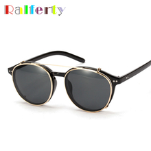 Brand Designer Clip On Sunglasses Punk Style Fashion Hipster Eyewear Goggles Optic Sunglasses Reflective Mirror Sun Glasses 1509(China)