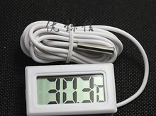 white of lcd digital thermometers for freezer temperature of 50 ~ 110 degrees refrigerator freezer thermometer free shipping