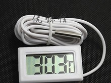 white of lcd digital thermometers for freezer temperature of 50 ~ 110 degrees refrigerator freezer thermometer free shipping(China)