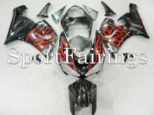 Fairings Fit Kawasaki ZX6R ZX-6R 636 Year 2005 2006 05 06 Sportbike ABS Motorcycle Full Fairing Kit Bodywork Black Red Flame(China)