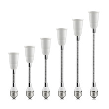New Flexible E27 to E27 LED Lamp base Bulb Socket With 16CM 20CM 30CM 35CM 50CM 60CM Extension Light Holder Converters