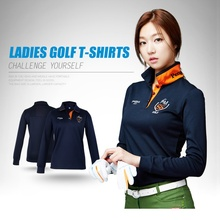 New Womens Golf Polo Shirts Long Sleeve Autumn Winter Golf Shirts Polo Hombre Ladies Golf Clothing Apparel Quick Dry(China)