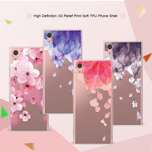 "Buy 3D Relief Phone Case Cover Sony XA1 G3121 G3112 G3123 G3116 Dual 5.0"" Floral Cartoon Lace Soft TPU Coque Sony Xperia XA1 for $1.31 in AliExpress store"