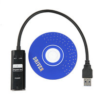 kebidumei 1000Mbps Ethernet USB 3.0 to RJ45 Network Card Cable with 3 Ports for Computer Laptop(China)