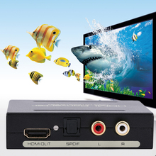 Hot Top Quality HDMI Splitter Separator HDMI To HDMI Audio Spdif R/L Audio Signal Converter With Usb Power Supply Cable