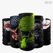 401-430 12pcs wholesale Cool Skull Bandana Multifunctional Seamless Bandana Motorcycle Scarves Tube Tubular Scarf Headband(China)
