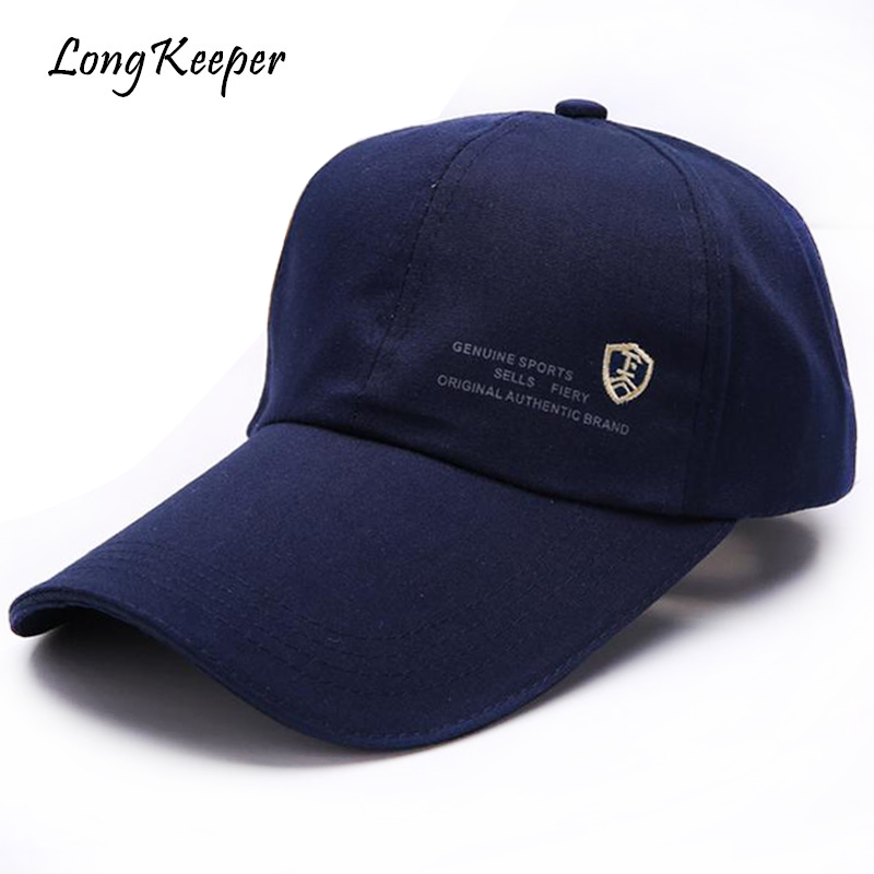 Long Keeper Mens Caps Lengthen Brim Solid Snapback Caps Adjustable Women Baseball Caps Male Outdoor Sport Hats Chapeu RZ83