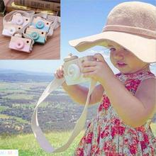 Toy Camera Cute Cartoon Baby Wooden Toy Kids Creative Neck Camera Photography Prop Decoration Children Playing House Tool