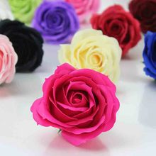 6CM Soap Rose Flower Head Artificial Flower Head For DIY Valentine's Day Thanksgiving Day Birthday Gift Wedding Decoration