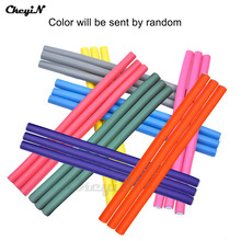 50Pcs/Lot Flexi Hair Rods Colorful Plastic Hair Rollers Bendy Twist Curl Roller Girl's DIY Hair Styling Tools 24CM HS18_3940
