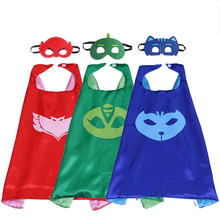 2pcs/set Carnaval Party Mask Role-play Cloak Cape PJ Masks Characters Owlette Catboy Gecko Pajamas Cosplay Action Toys Costume
