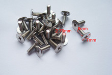 100 pcs silver Luggage screws,box buckle screws,belt Screws,bag buckle accessoires,bag fasteners,Auto button buckle