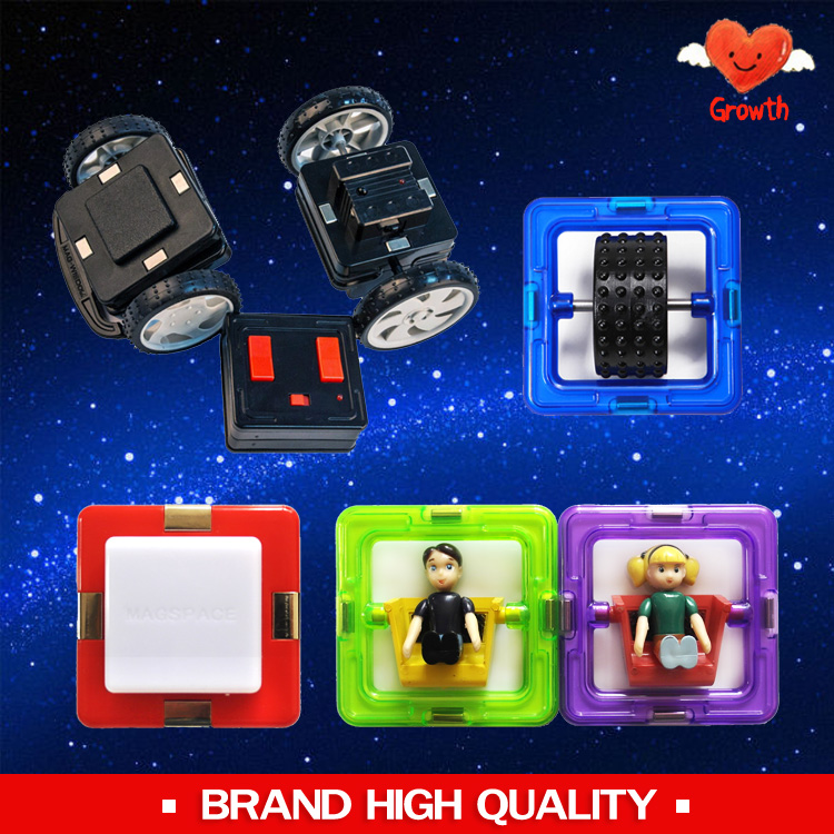 Wholesale Brand High Quality Magnetic R/C Wheels Single Wheels Led Light Doll Piece Magnetic Accessorries Toy Bricks<br><br>Aliexpress