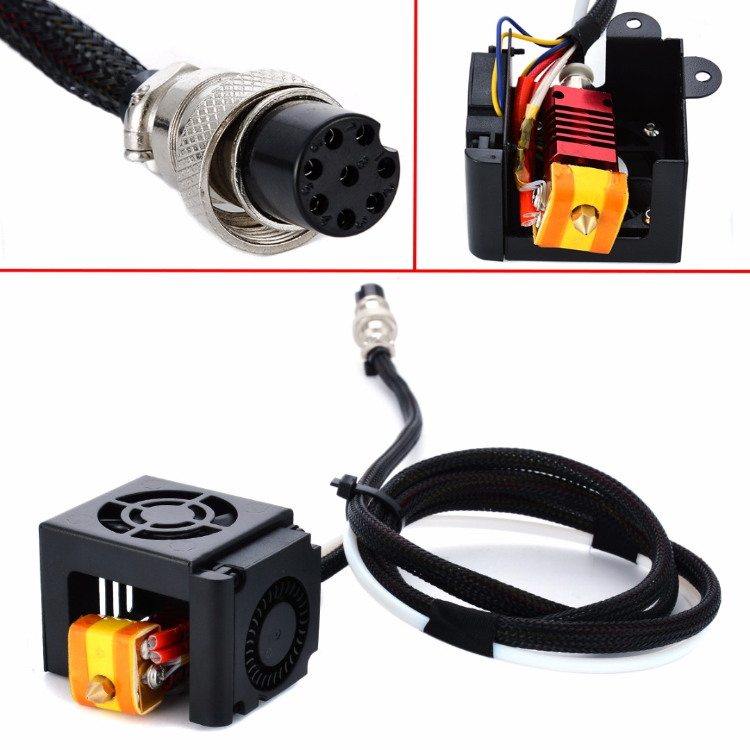 1pc 0.4mm Brass Nozzle Extruder Hot End Kits MK8 Extruder With Aluminum Block Heating Tube For 3D Printer CR-10 S/S4/S5 Mayitr<br>