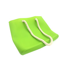 greenyellow blue color silicone beach bag summer bag silicone tote bag handle  bags accessaries 2016