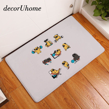 decorUhome Flannel Waterproof Kitchen Mat Cute Cartoon Sport Bulldog Carpet Bedroom Rugs Decorative Stair Mats Home Decor Crafts(China)