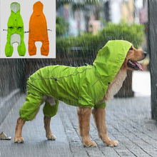 Reflective Pet Dog Raincoat Waterproof Dog Rain Jacket Coat With Hood For Medium Large Dogs Golden Retriever Labrador(China)