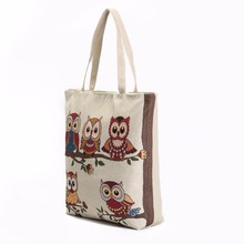large capacity canvas jacquard wholesale handbag distributors shoulder bag child shell leather bag fashion(China)
