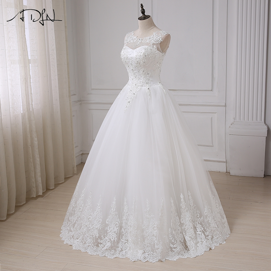 ADLN Vintage Wedding Dresses Cap Sleeve Sequins Applique Elegant Wedding Gowns Vestido De Novia Lace-up Back Custom Made 10