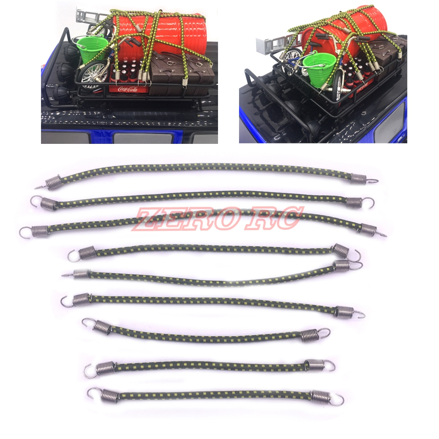 1//10 Scale Bungee CORDS Hand Made.5 Inch//6 Inch...RC4WD.Crawlers.Axial.RED 10