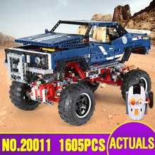 lepin 20011 1605pcs technic remote control electric off-road vehicles building block toys compatible with 41999 new year Gifts(China)