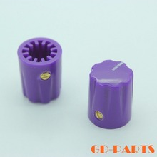 "13*16mm purple ABS plastic pointer knob for guitar AMP effect pedal stomp box DJ mixer overdrive radio,1/4"" shaft hole"