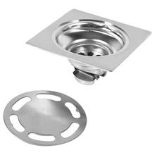 1Set Thick Floor Drains Stainless Steel Square Anti-odor Bathroom Drain Cover Waste Gate Shower Drainer