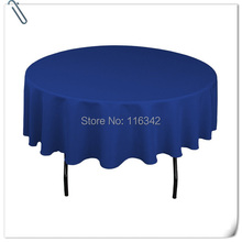 "Big Discount & Factory Price!!!  132"" Dia Visa Round 100% Polyester Blue   Table Cloth With  FREE SHIPPING"