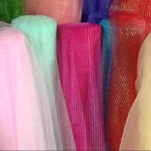 150cm*100cm Encryption bright screen yarn organza Cogan gauze scarf dress yarn material / transparent mesh decorative diy fabric
