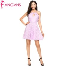 Buy ANGVNS A-line Ruffles Lace Summer Dress Women Halter Backless Bandage Lace Dresses Sexy Dress Casual Party Short Vestidos for $14.89 in AliExpress store
