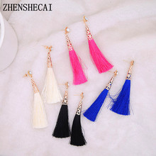 Buy 2018 New Vintage Crystal Tassel Drop Earrings Bohemia Earring Women jewelry Gift Long Pendant Dangle Earring exquisite e0468 for $1.48 in AliExpress store