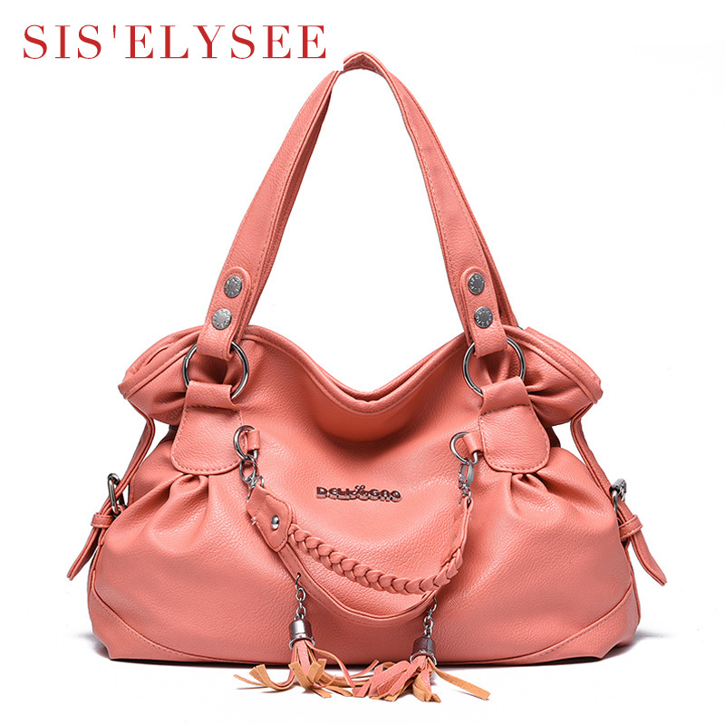 Pu Leather Womens Bags 2016 Famous Brands Messager Bags Luxury handbags Soft Top-handle Hobos Ladies Designer Handbags<br><br>Aliexpress