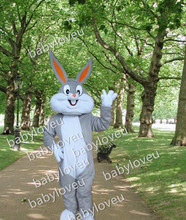 High-quality adult size cartoon rabbit Bugs Bunny mascot costume Halloween Cosplay Christmas and Easter bunny mascot costume
