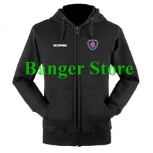 SCANIA truck sweatshirts coat custom scania 4S shop hoodie jacket for men and women(China)
