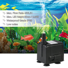450L/H 6W Submersible Mini Water Pump for Aquarium Tabletop Fountains Pond Water Gardens and Hydroponic Systems with 2 Nozzles