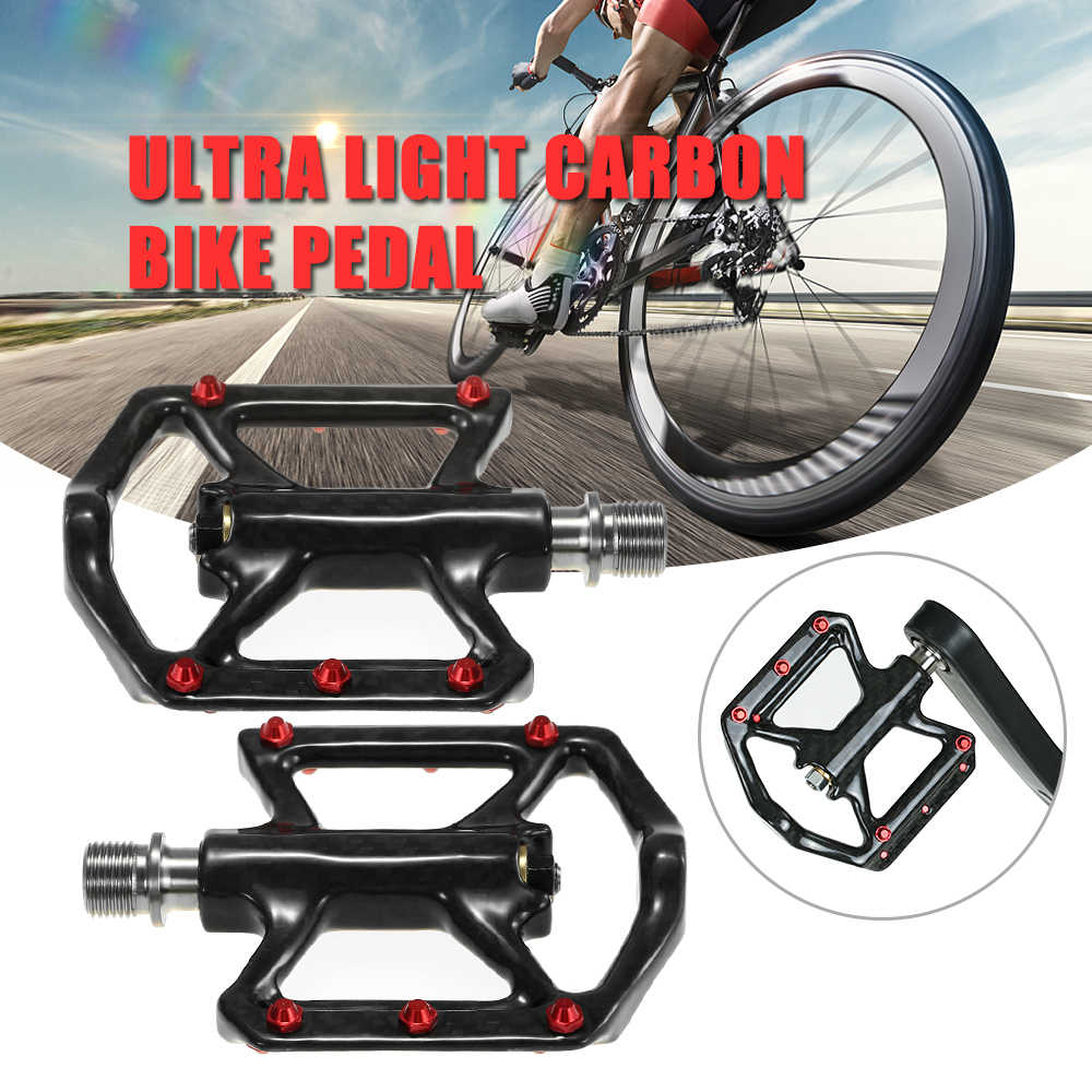 Bike Pedal Light Weight Full Carbon Titanium Axis Platform Titanium Road Bike