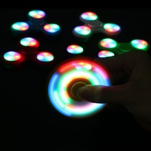 LED Light Fidget Spinner Finger ABS EDC Hand Spinner Tri For Kids Autism ADHD 5 Styles Anxiety Stress Relief Focus Handspinner(China)