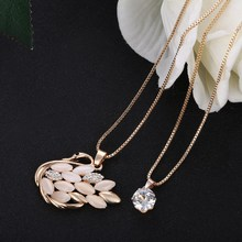 Bohemian Jewelry Women Long Gold Hollow Swan Necklace Necklaces Pendants for love bijoux Vintage accessories 2016 new